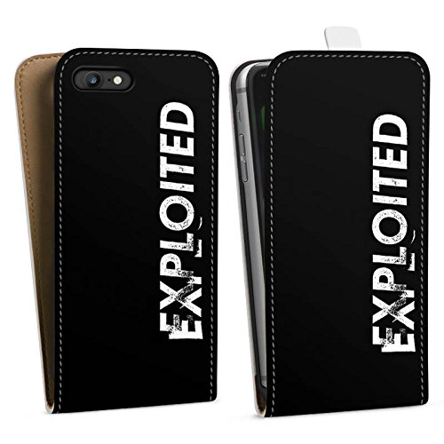 Apple iPhone X Silikon Hülle Case Schutzhülle Techno House Electro Downflip Tasche weiß