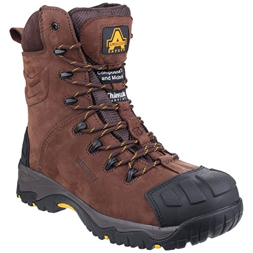 Amblers AS995 Pillar Waterproof Hi-leg Lace up S3 Safety Boot brown