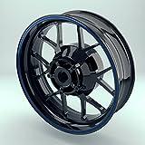 OneWheel Felgenstreifen 4mm für Motorrad & Auto (15-19 Zoll) - Farbe wählbar - Rim Stripes Set...