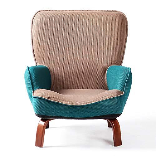 QTQZHH Sofa-Bett-Karikatur-Kind-Sofa-fauler reizender einzelner Stuhl-zufälliger kreativer Wäsche-Stuhl (Farbe: Khaki)
