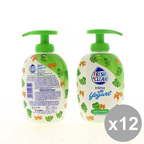 Set 12 FRESH&CLEAN Intimo.200Ml Yogurt Uva Bagnoschiuma e saponi per il corpo