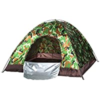 Waterproof windproof ultraviolet-proof outdoor travel camping 3-4people camouflage multifunction rainning proof tent - Bottom Black / Silver