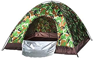 Waterproof windproof ultraviolet-proof outdoor travel camping 3-4people camouflage multifunction rainning proof tent -...