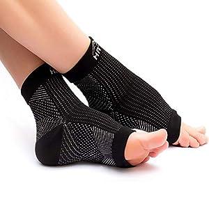 Kompressionssocken/Fußbandage (1-2 Paar) für optimale Kompression beim Sport, Laufen oder Unterstützung bei Plantarfasziitis, Fersensporn – Kompressionsstrümpfe für Damen und Herren