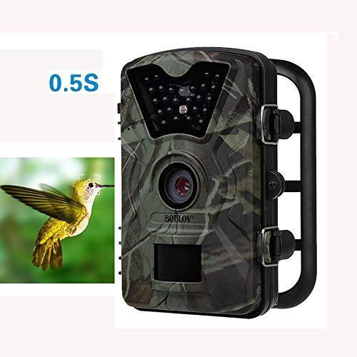 MCJL Jagdkamera, 1080P Wildtierpfad, HD-Nachtsicht-Infrarot-Spielkamera 20m und 2,4 Zoll Bildschirm für die Überwachung der Sicherheit im Freien und zu Hause