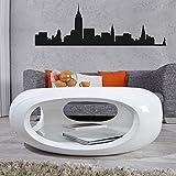 CAGÜ Design Retro Lounge COUCHTISCH [Luna] Weiss Hochglanz 75cm Ø, Neu!