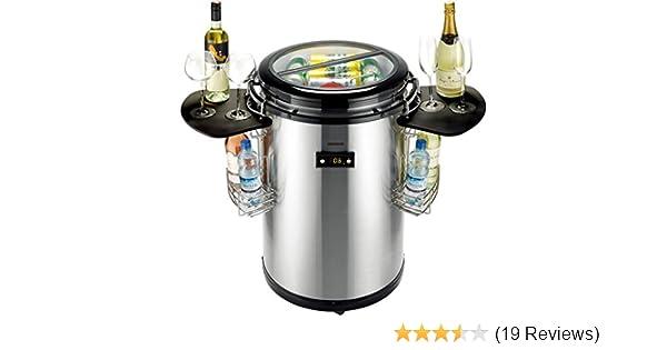 Bomann Mini Kühlschrank Reinigen : Gino gelati party kühlschrank edelstahl mit schwarz kühlbox