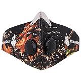 Sport Maske Unisex Damen Herren SBR + Aktivkohlefilter Outdoor Maske mit Filter und Klettverschluss Winter Maske Fitness Maske Skimaske Atemschutzmaske Gesichtsmaske Motorradmaske Fahrradmaske Staubschutzmaske (Tarnfarbe)