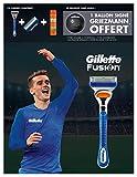Gillette Edition Limitée Griezmann - Coffret Rasoir Fusion + 1 Lame de Rechange + Gel à Raser Fusion Hydratant 200 ml