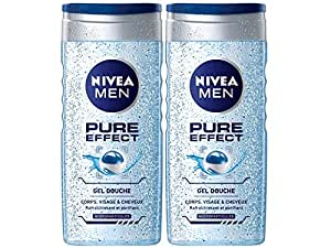 Nivea Bathcare - Douche Pure Effect - 250 ml - Lot de 2