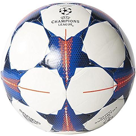 adidas Finale15FCB Cap - Balón de fútbol, color blanco / rojo / azul, tamaño 4