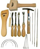 Tack Lifter, Heftung Lifter, die es & gerader Stechbeitel, Arbeitshemd Draper Hammer, Web Stretcher, Klöppel + Nadel Kit Polstermöbel Kit