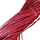 10M Weiß Wachsschnur Wachsband Gewachste Baumwollkordel Wachskordel Schmuckband Baumwolle Seil Schnur Schmucksachen Armband - rosarot
