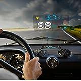 Autool 12V Digital Auto OBD HUD Head Up Display KM/h MPH velocímetro + Alarma de exceso de velocidad + Motor Problemas alarma Coche Parabrisas Proyector con reflectante película para la mayoría Vehículos nacionales