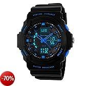 SunJas Sportivo orologio da polso multifunzione blu