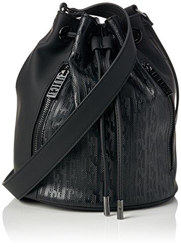 Juicy by Juicy Couture Damen Melrose Schultertasche, Schwarz (Black Deboss), 20.5x25x23 cm (Schwarz Couture Juicy Handtasche)