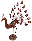 LED Solar Pfau Vogel Figur Beleuchtung Garten Außen Lampe Leuchten Direkt 19786-48