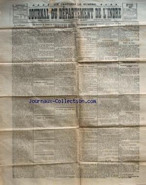 JOURNAL DU DEPARTEMENT DE L'INDRE [No 164] du 20/07/1921 - LES ACCIDENTS DE CHEMINS DE FER - LA PACIFICATION DE L'IRLANDE - LLOYD GEORGE - DE VALERA - LES ALLEMANDS ET LA NOTE FRANCAISE - LA GUERRE EN ASIE-MNEURE - L'ALLEMAGNE PAIE - LES CONDAMNES DU BONET ROUGE VONT PARTIR AU BAGNE - UN EMPLOYE DELICAT - PIERRE JARRY - LE RETOUR DE RUSSIE - MME GUILHAUX - LES ATTENTATS SUR LA VOIE - LES TROUPES FRANCAISES EN HAUTE-SILESIE - L'ANGLETERRE ET L'ITALIE - LES ACCUSATIONS DE L'AMIRAL SI par Collectif