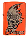 Zippo 60.001.887 Mechero con diseño de calavera de la cabeza de la colección Spring 2016, de neón - De colour naranja