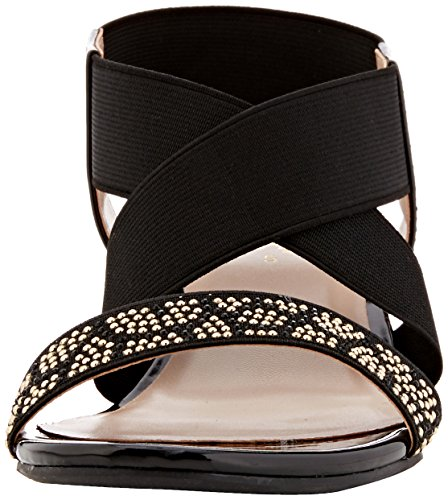Lotus Briee, Sandales Bride cheville femme Black (black Shiny)