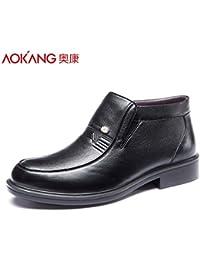 Aemember Scarpe Uomo Inverno Business Casual scarpe basse per aiutare gli uomini a caldo di scarpe di cotone ,42, nero