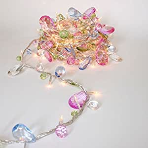 Fairy Lights - Bohemia - Elegant String with Jewels - 50 LED String Lights - Mains Powered - ThinkGadgets - Transformer Supplied