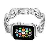 Nigaee Apple Watch Strap Apple Watch Straps 42mm Apple Watch Strap 38mm Bling Diamond Loop Replacement Strap for iWatch Series 3,2,1 iWatch Straps 42mm & iwatch straps 38mm,shuanghuan siv 38mm