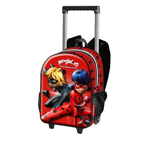 *Ladybug Defenders Sac à Dos Enfants, 38 cm, Rouge (Rojo) Liste de prix