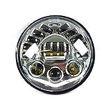 LED Scheinwerfer 7 Zoll Daymaker Standlicht passend für Harley Davidson Modelle chrome