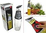 #8: YOGERS 500ml Healthy Cooking Oil Vinegar Press & Measure Kitchen Glass Bottle Dispenser