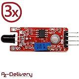AZDelivery  3x rilevatore di fiamma KY-026 per Arduino e altri Microcontroller 3x Feuerdetektor KY-026