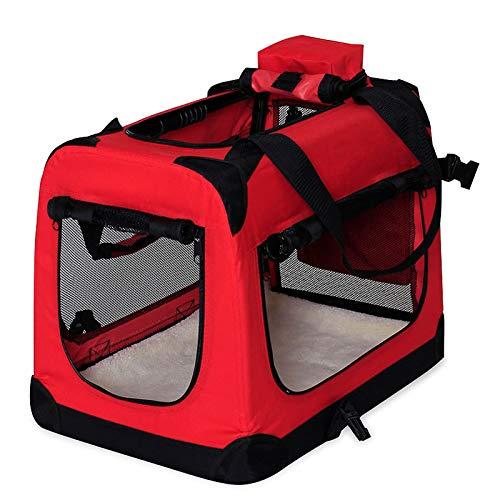 Hundetransportbox Hundetasche Hundebox faltbare Kleintiertasche Farbe Rot Größe S -