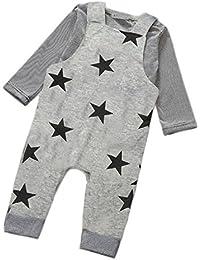 Culater® Bébé Garçons Pantalons Ensembles Stripe T-shirt Haut Salopettes Pantalons Tenues