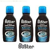 Buster Déboucheur de siphon de salle de bains 300 ml (Lot de 3)