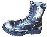Steels 10 Loch Boots Schwarz Rub Off, Grösse 42