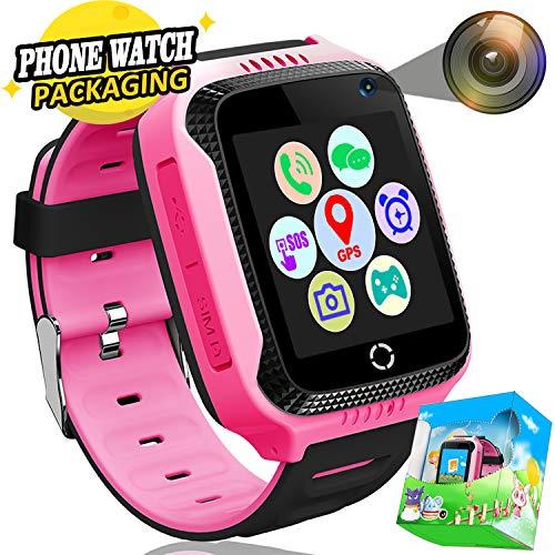 Kids Smart Watch Phone, GPS Tracker Smart Wrist Watch for 3-12 Year