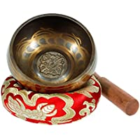 Singing Bowl - Exqline Silent Mind Tibetan Singing Bowl Set 11.5 CM, Great For Mindfulness Meditation, Relaxation, Stress & Anxiety Relief, Chakra Healing, Yoga, Zen, Perfect Spiritual Gift