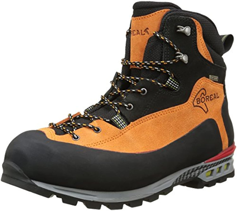 Boreal Brenta - Zapatos de montaña Unisex, Color Naranja y Negro, Talla 10.5  -