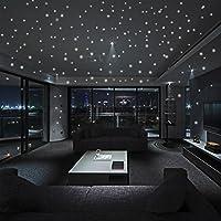 PAOLIAN Resplandor En Las Etiquetas Engomadas Oscuras De La Pared De La Estrella 407Pcs DecoracióN Luminosa De La HabitacióN De Los Cabritos Del Punto Redondo