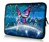 Luxburg® Design Tasche Hülle Sleeve Schutzhülle für Tablet PC 8 Zoll: Apple iPad mini (auch Retina) | Samsung Galaxy Tab 3 (8 Zoll) / Note 8.0 | Intenso TAB814 (8 Zoll) | Asus MeMO Pad 8 | Odys Titan (8 Zoll) | Lenovo IdeaPad Yoga (8 Zoll) | Acer Iconia W3 (8 Zoll) , Motiv: Fee