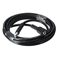 SDYDAY Universal Replacement Washing Hose 5m 5800PSI High Pressure Cleaner Cold Cleaning Machine Washer Tube Connector For Karcher K2 (black)