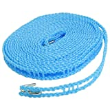 Snazzynest 5 Meters Windproof Anti-Slip Clothes Washing Line Drying Nylon Rope with Hooks (Assorted)