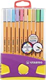 Stylo feutre pointe fine - STABILO Point 88 - Etui ColorParade de 20 stylos-feutres - Coloris assortis dont 10 pastel