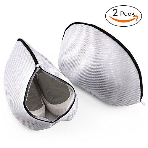 Wäschebeutel für Schuhe, PaiTree 2er-Packung Schuh-Wäschebeutel für die Waschmaschine mit haltbarem Reißverschluss. Wäschebeutel mit hohem Schutz für Aufbewahrung und für Unterwegs.