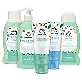 Marca Amazon- Mama Bear  Set para los bebés:  Gel de baño,  champú, crema para el cambio del pañal, aceite, crema para la cara y el cuerpo
