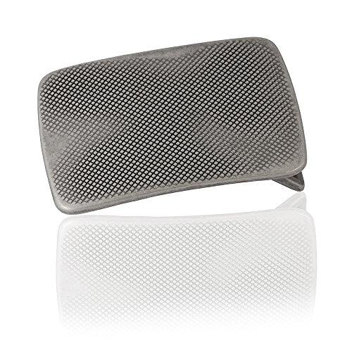 FREDERIC HERMANO Gürtelschnalle Buckle 40mm Metall Silber Geschwärzt - Buckle Billy - Dornschliesse Für Gürtel Mit 4cm Breite - Silberfarben Geschwärzt