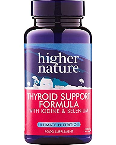 Higher Nature Thyroid Support Formula - Pack of 60 Capsules (Packaging May Vary)