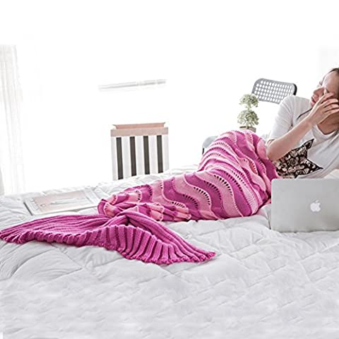 Candora Colour Colorful Mermaid Tail Sofa Blanket,Air