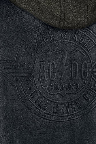 AC/DC Rock & Roll - Will Never Die Leder-Jacke schwarz Schwarz