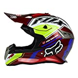 Woljay Casques motocross Casque sport moto sport double sport Saleté Bicyclette VTT (S, Rouge)